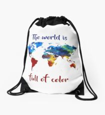 The World Is Full Of Color Drawstring Bag