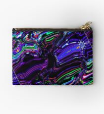 Reflections Of My Soul Blue Diagonal Studio Pouch