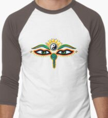 Buddha eyes, symbol wisdom & enlightenment, Men's Baseball ¾ T-Shirt