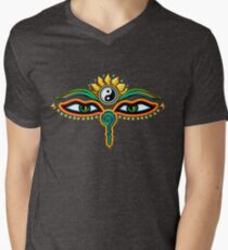 Buddha eyes, symbol wisdom & enlightenment, Men's V-Neck T-Shirt