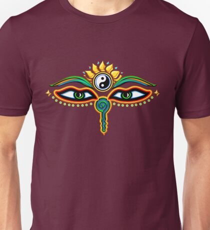 Buddha eyes, symbol wisdom & enlightenment, Unisex T-Shirt