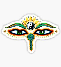 Buddha eyes, symbol wisdom & enlightenment, Sticker