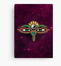 Buddha eyes, symbol wisdom & enlightenment, Canvas Print
