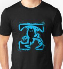 Bat halloween lightblue and black silhouette Unisex T-Shirt