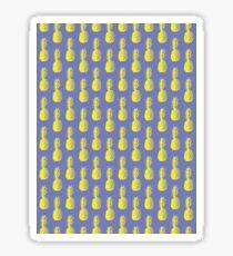 Pineapples - Purple & Yellow #417 Sticker