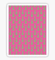 Pineapples - Pink & Green #464 Sticker