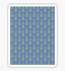 Pineapples - Purple & Green #352 Sticker