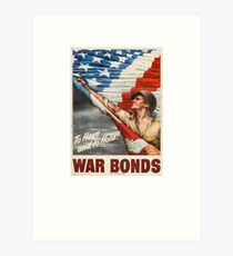 War Bonds WWII -To Have and to Hold- Art Print