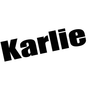 Karlie - Karlie's Mug, Tshirt, Card, Notebook - Unique Name Designs by WaffleOnDesigns