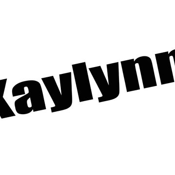 Kaylynn - Kaylynn's Mug, Tshirt, Card, Notebook - Unique Name Designs by WaffleOnDesigns
