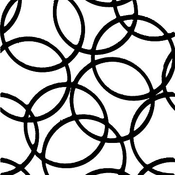 Interlocking Black Circles Artistic Design by taiche