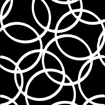 Interlocking White Circles Artistic Design by taiche