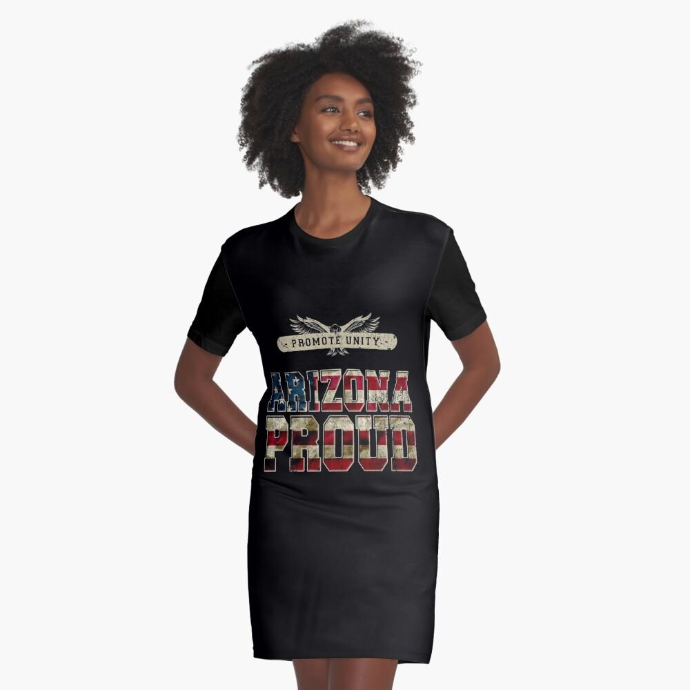 Stolz Arizonas fördern Einheit Stolzes starkes ehrfürchtiges Entwurfs-Geschenk T-Shirt Kleid