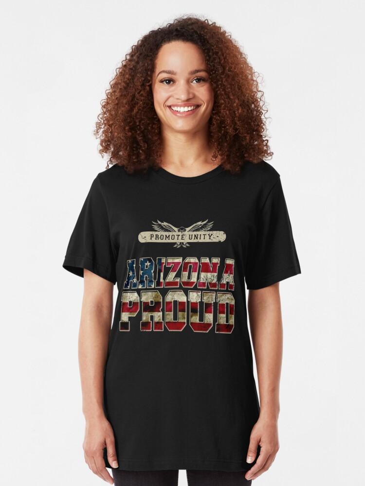 Alternative Ansicht von Stolz Arizonas fördern Einheit Stolzes starkes ehrfürchtiges Entwurfs-Geschenk Slim Fit T-Shirt