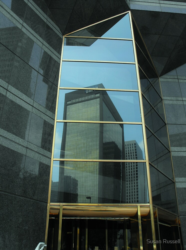Reflections in Dallas Arts District by Susan Russell
