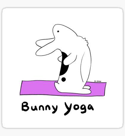 Bunny Yoga Sticker