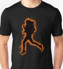 Silhouette fit orange and black silhouette Unisex T-Shirt