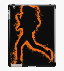 Silhouette fit orange and black silhouette iPad Case/Skin