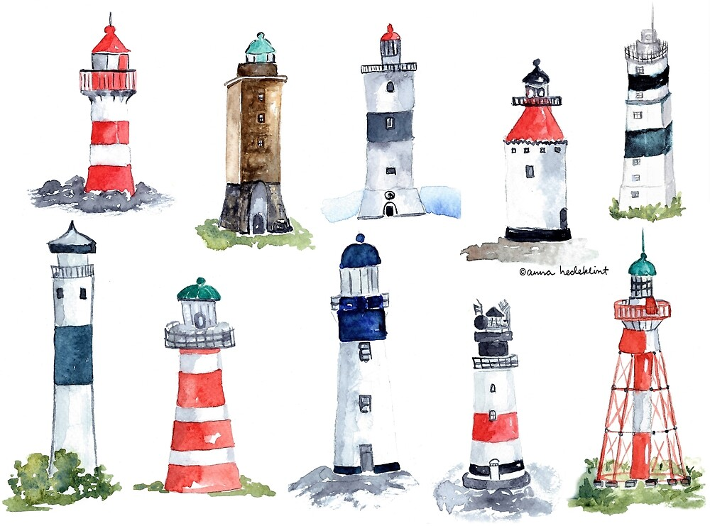 Swedish Lighthouses by annahedeklint