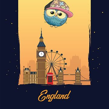 Hip Hop Owl in England / English Scenery / Time to Travel With an Owl by ProjectX23