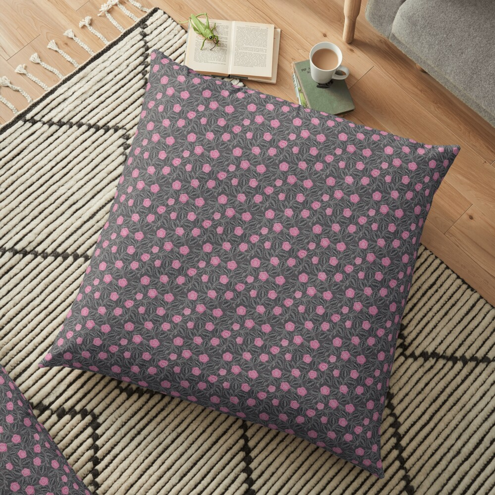 the wild roses  Floor Pillow