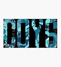 COYS * Blue Camo Edition Photographic Print