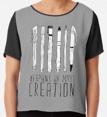 dca6adac Weapons Of Mass Creation (on grey) Chiffon Top