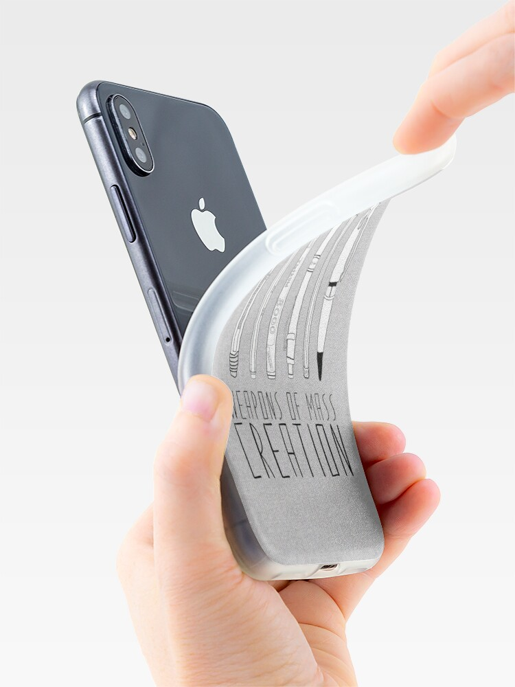 Alternate view of Weapons Of Mass Creation (on grey) iPhone Case & Cover