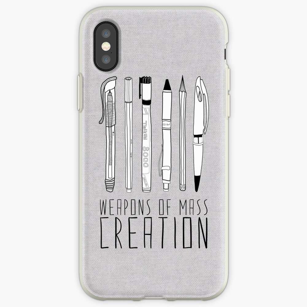 Weapons Of Mass Creation (on grey) iPhone Case & Cover