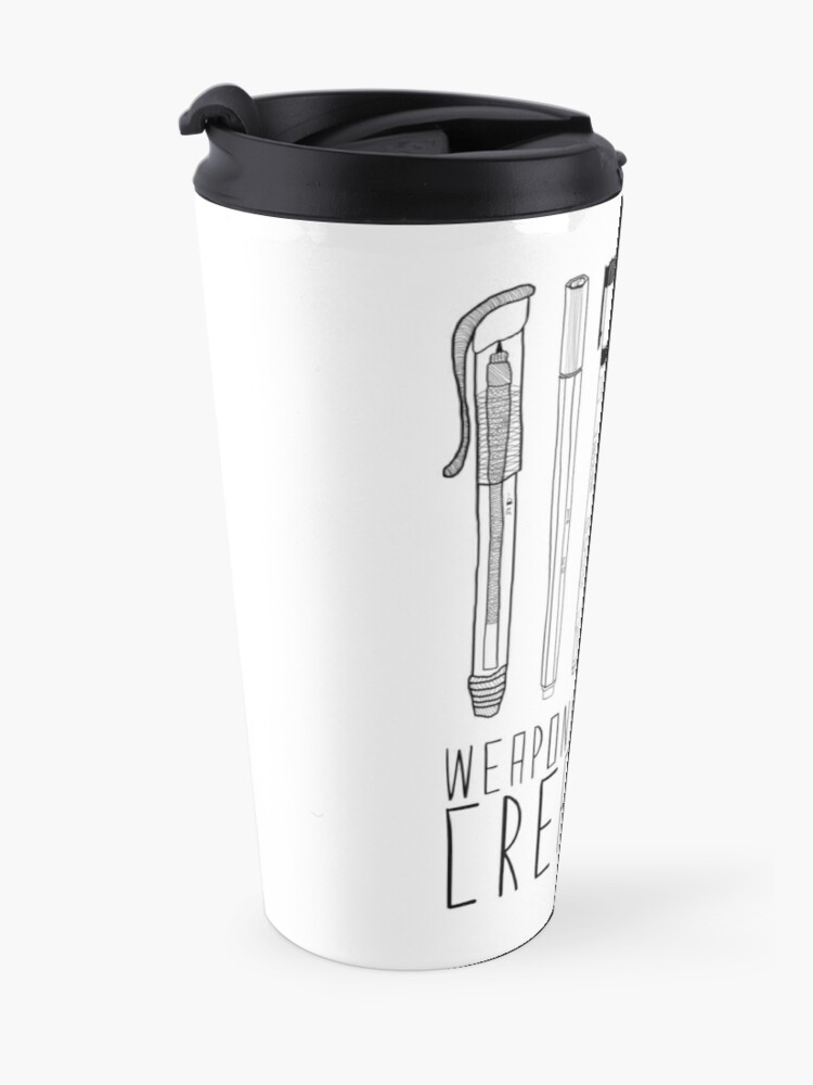 Alternate view of Weapons Of Mass Creation (on grey) Travel Mug