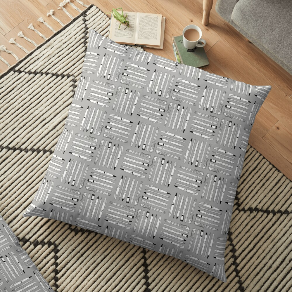 Weapons Of Mass Creation (on grey) Floor Pillow