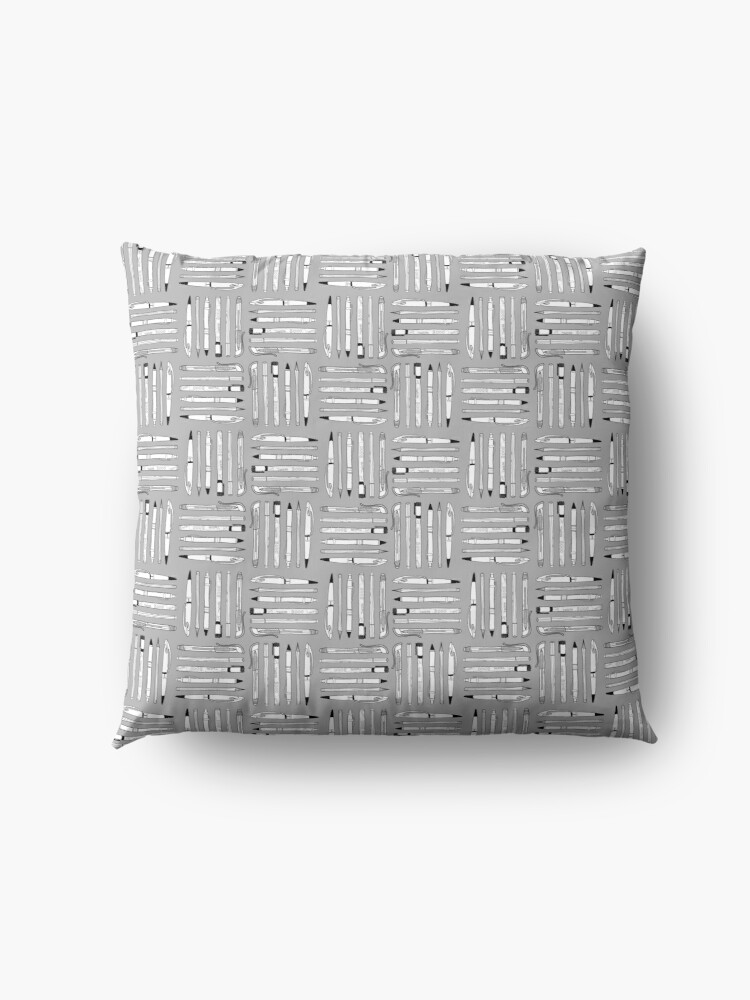 Alternate view of Weapons Of Mass Creation (on grey) Floor Pillow