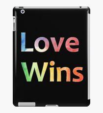 Small Logo Love Wins Slogan Pride 2018 iPad Case/Skin