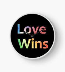 Small Logo Love Wins Slogan Pride 2018 Clock