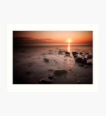 Sandsend Sunrise Art Print