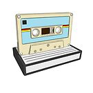 Cartoon retro cassette by Yaus