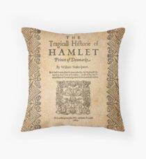 Shakespeare, Hamlet 1603 Throw Pillow