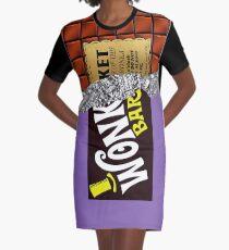 Wonka's Golden Ticket Chocolate Graphic T-Shirt Dress
