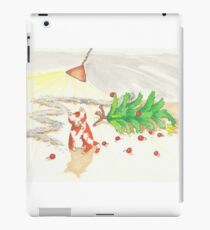 Cat conquering the Christmas tree iPad Case/Skin