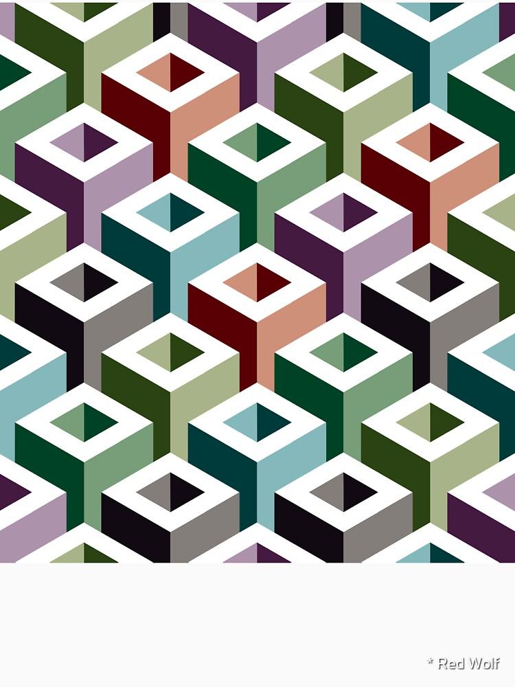 Geometric Pattern: Tube: Colours by redwolfoz