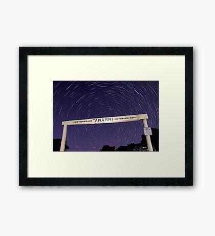 Star Trails At Tawarri  Framed Print