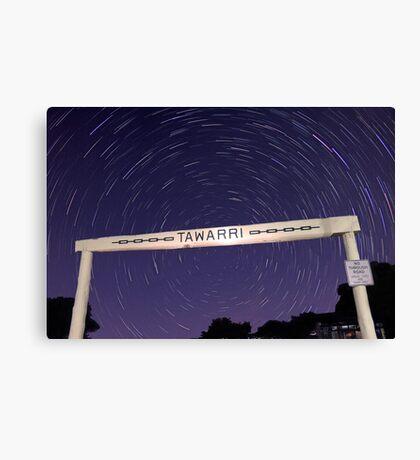 Star Trails At Tawarri  Canvas Print