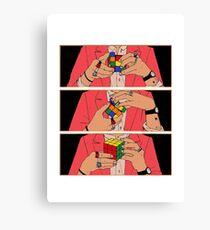 Harry Styles - Rubik's cube Canvas Print