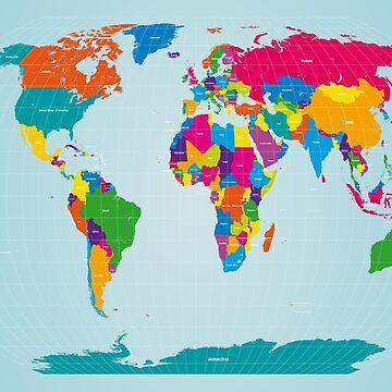 World Map  by ArtPrints