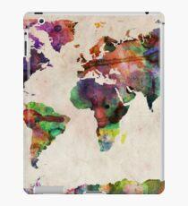 World Map Urban Watercolor iPad Case/Skin