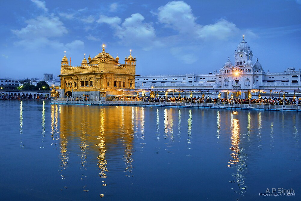 Quot Morning At Golden Temple Quot By A P Singh Redbubble