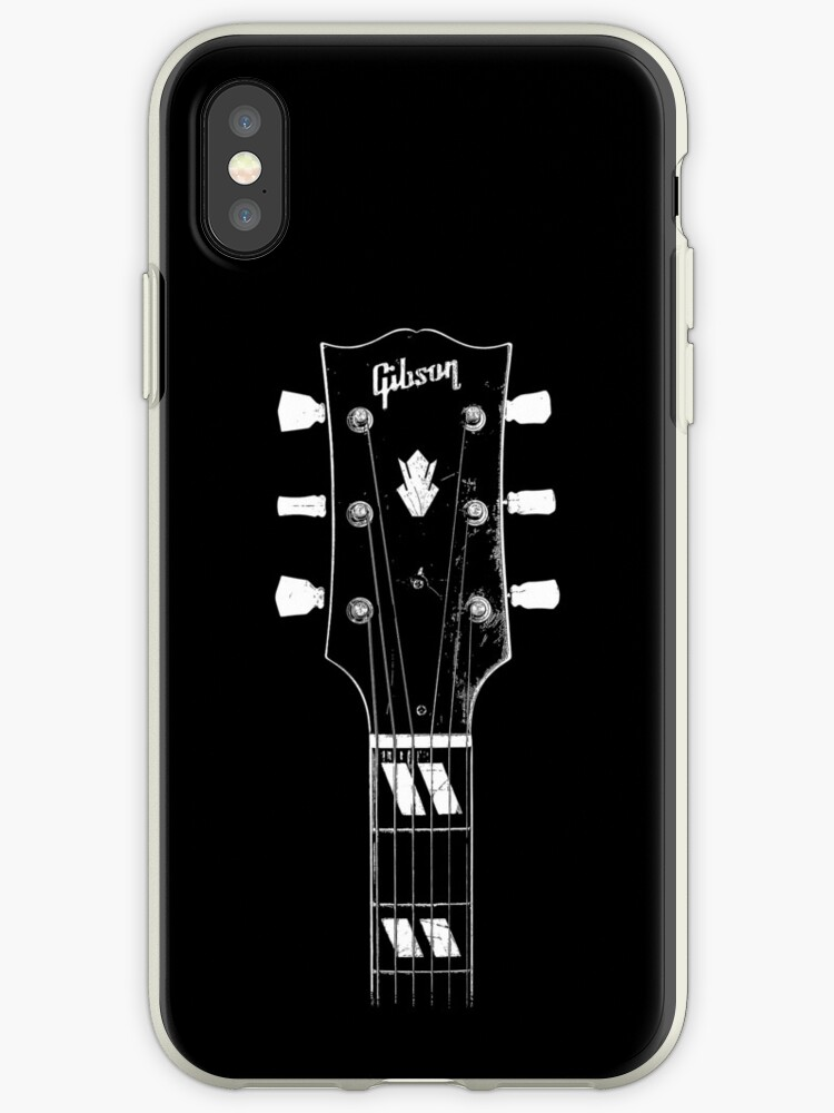 'Vintage 1950 Gibson ES-300 - Acoustic Guitar - Headstock-Vintage-Rock  Music - Blues' iPhone Case by carlosafmarques
