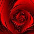 Red Fractal Rose (158  Views) by plunder
