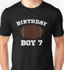 7th Birthday Party Football Seven Apparel Unisex T-Shirt