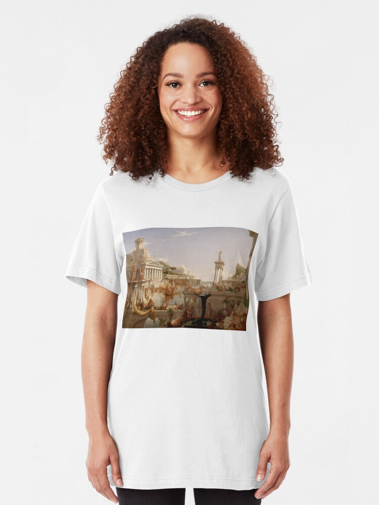 Alternate view of The Consummation of Empire - Thomas Cole Slim Fit T-Shirt